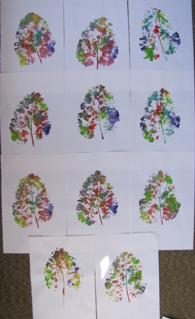 Kleas: big leaf printing