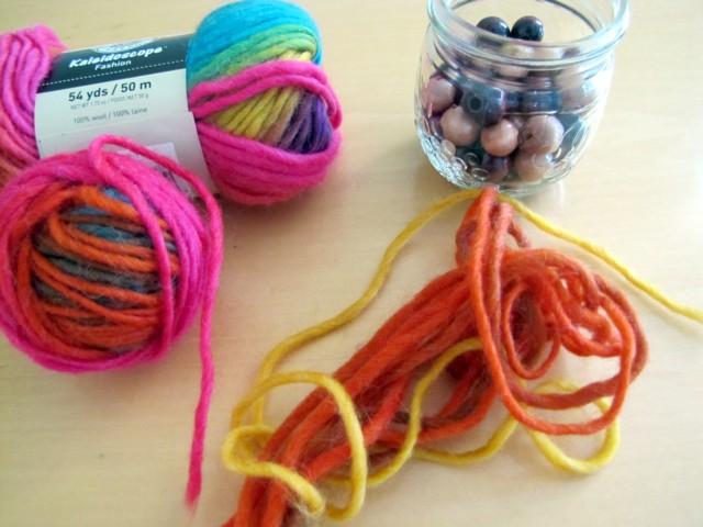 Yarn+beads