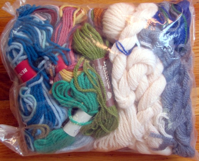 Bag of thrift yarn