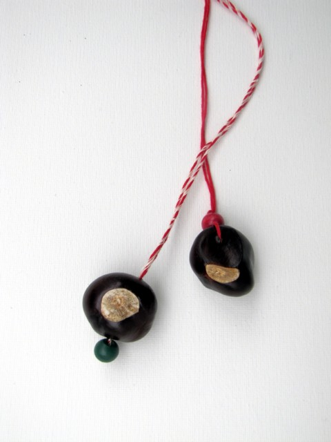 Horse chestnut necklace