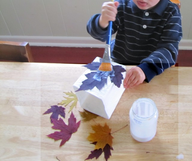 Gluing on the leaves