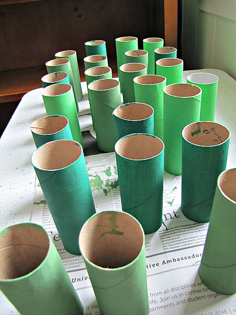 Tubes painted