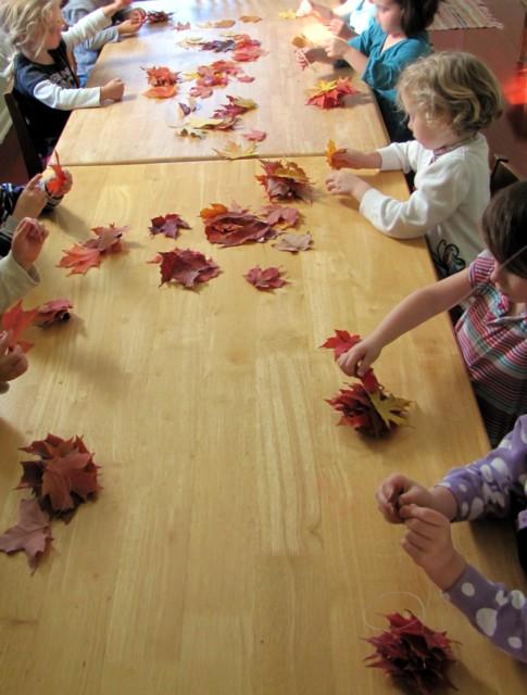 Kids stringing